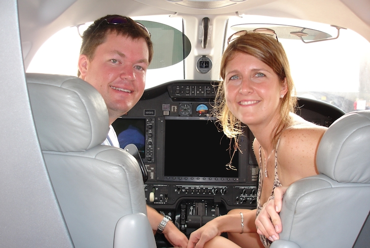 About Us page; Matt and Andrea Dahline