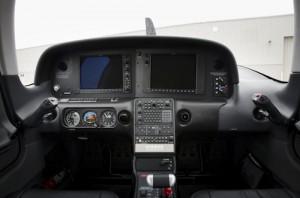 Full view of avionics dashboard
