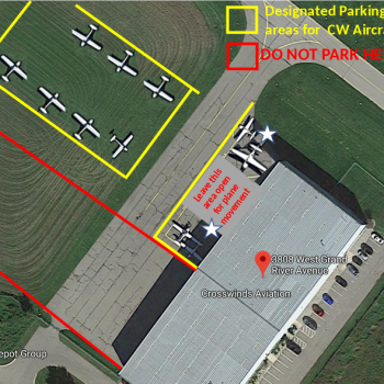 KOZW Parking Diagram